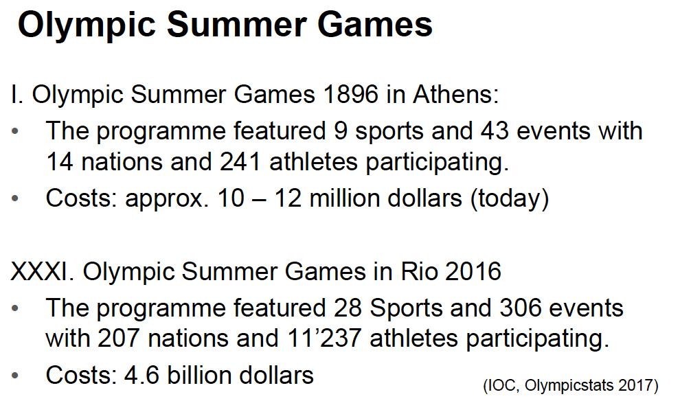 Sommar OS sport management betydelse