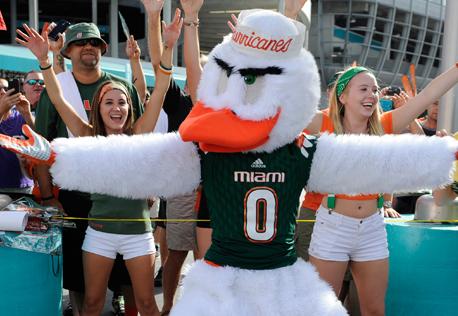 Miami Hurricanes Facebookannons Sportidealisten sportmarknadsföring